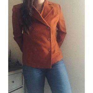 A N N  T A Y L O R  》Wool Burnt Orange Blazer